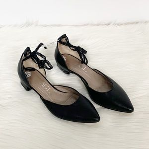 Agl Shoes - Agl | Lace Black Leather d'Orsay Block Heels